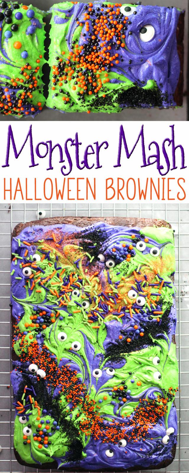 Monster Mash Halloween Brownies