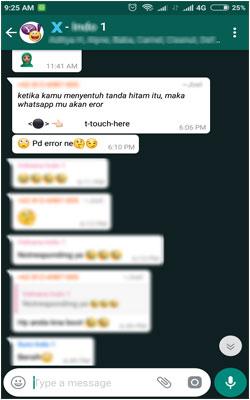 Pesan 'Black Dot' Bisa Bikin WhatsApp Crash
