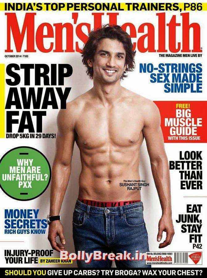 Sushant Singh Rajput, Bollywood Actors Hot & Sexy Pics on Magazine Covers
