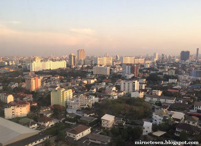 Элефант Тауэр, Бангкок - вид с 17 этажа