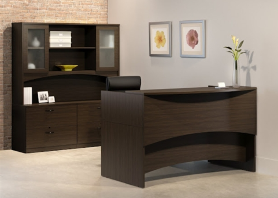 Brighton Series Modern  Rectangular Reception Desk by Mayline