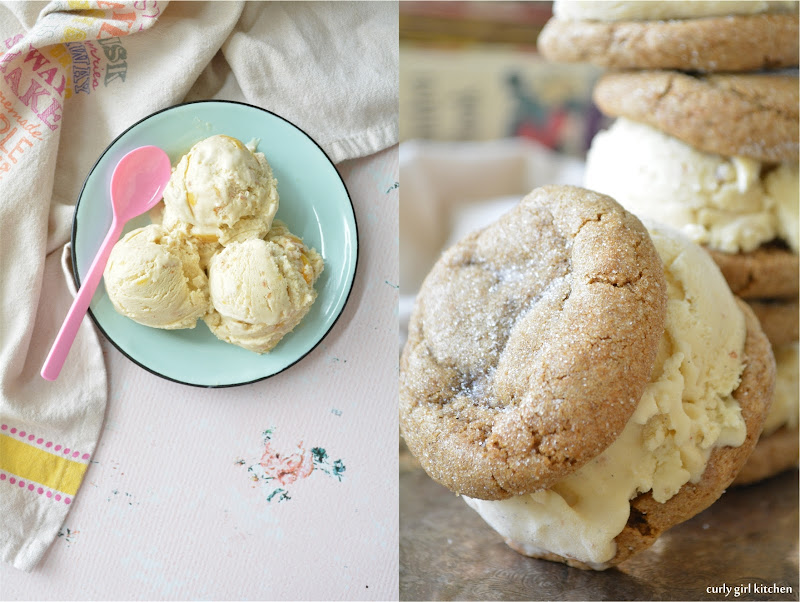 Curly Girl Kitchen: Peach Shortbread Ice Cream