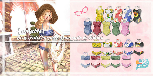{amiable}Girly Frill One-piece Swimsuit&Bikini Set