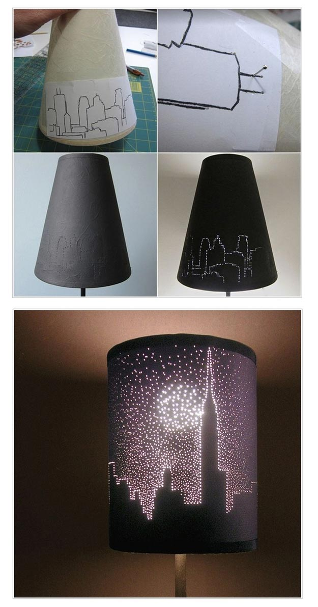 Easy Diy Teen Room Decor Ideas For Girls City Lights Lampshade Diy Crafts