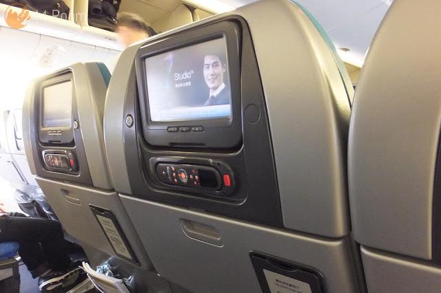キャセイパシフィックエコノミー座席 CX economyclass seat2