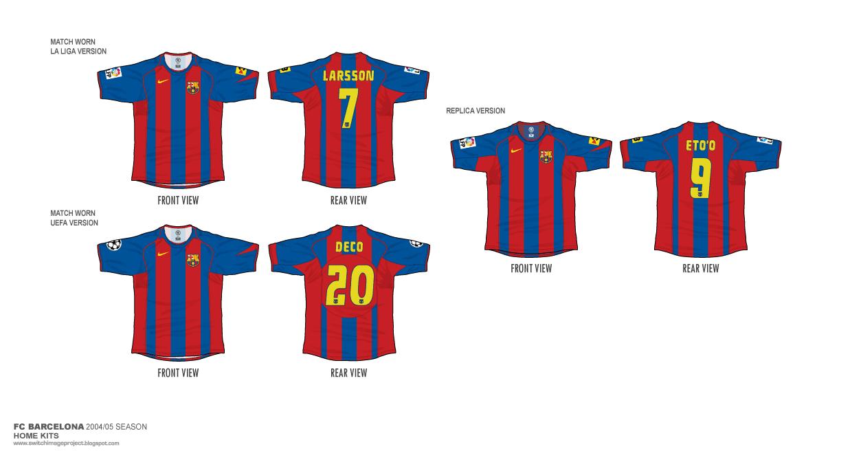 8cedd8ff7 Football teams shirt and kits fan  FC Barcelona 2004-05 Home Shirts
