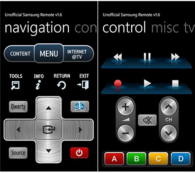 Samsung Smart TV Remote App