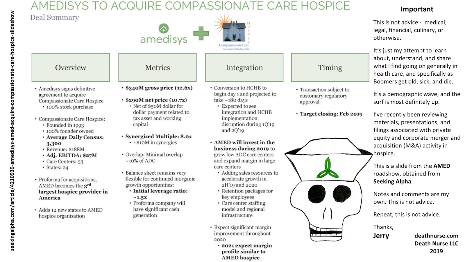 Death Nurse: This is not financial or investment advice