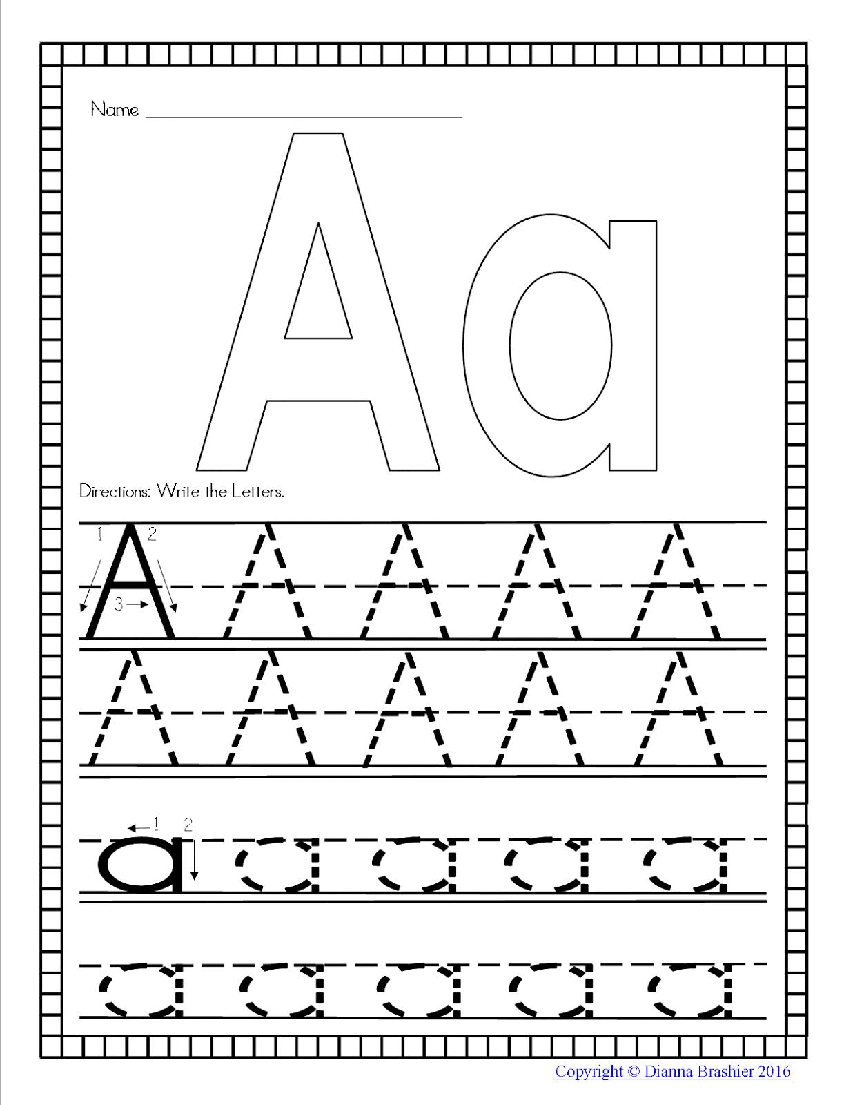 Teachers R Us Alphabet Handwriting Practice