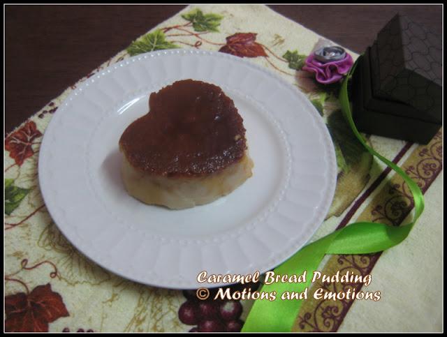 Eggless Bread Pudding / Caramel Bread Pudding