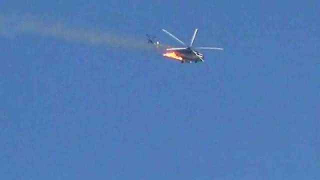 Ahrar Al-Sham Tembak Jatuh Sebuah Helikopter Tempur Rezim Assad di Latakia
