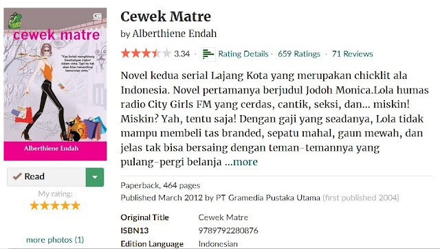 https://www.goodreads.com/book/show/1517251.Cewek_Matre?ac=1&from_search=true