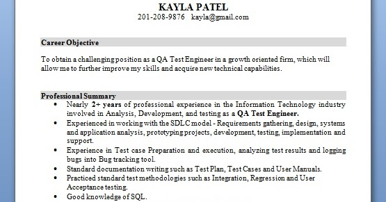 qa analyst resume building format in word free download
