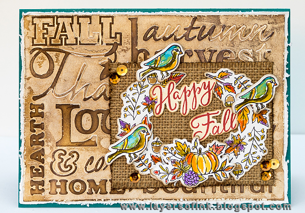 Layers of ink - Happy Fall Card Tutorial by Anna-Karin