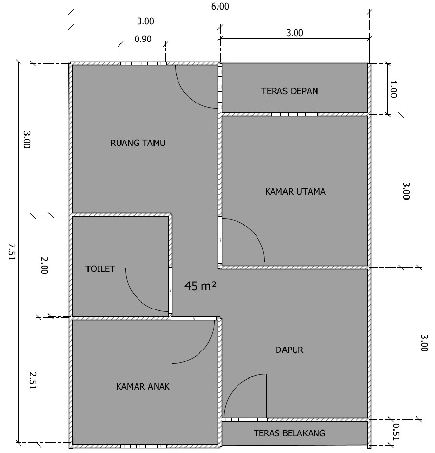 Kumpulan Desain Rumah Minimalis Ukuran 6x8 Kumpulan Desain Rumah
