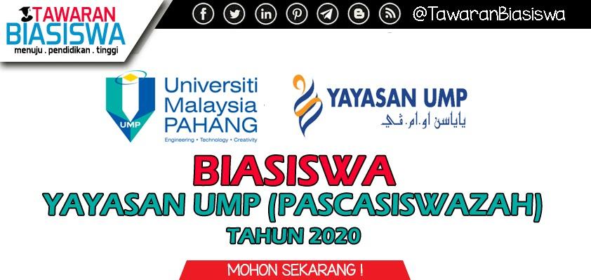 Permohonan Biasiswa Yayasan UMP (Pascasiswazah)