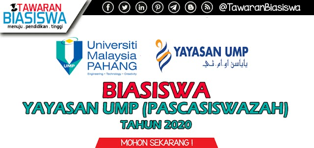 Tawaran Biasiswa Yayasan UMP (Pascasiswazah) 2020