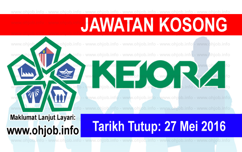 Jawatan Kerja Kosong Lembaga Kemajuan Johor Tenggara (KEJORA) logo www.ohjob.info mei 2016