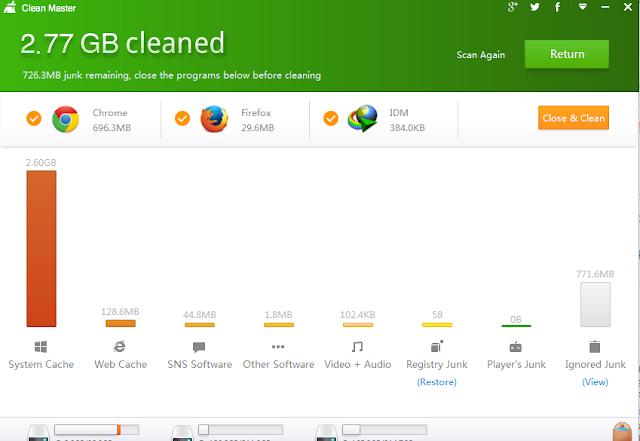 Tải Clean Master, phần mềm dọn rác và tăng tốc máy tính PC miễn phí f
