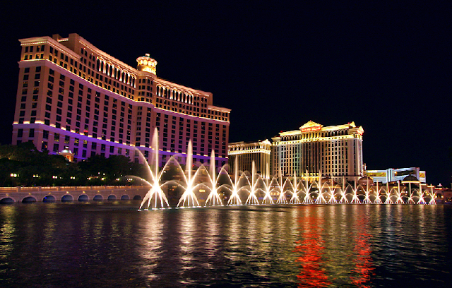 Show de fontes do Bellagio em Las Vegas