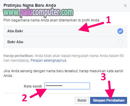 nama fb berhasil dirubah