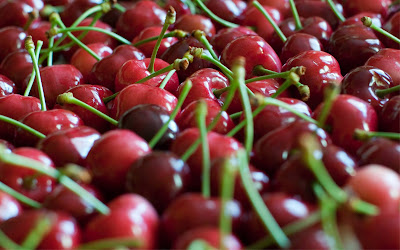 Cherry Macro Widescreen HD Wallpaper