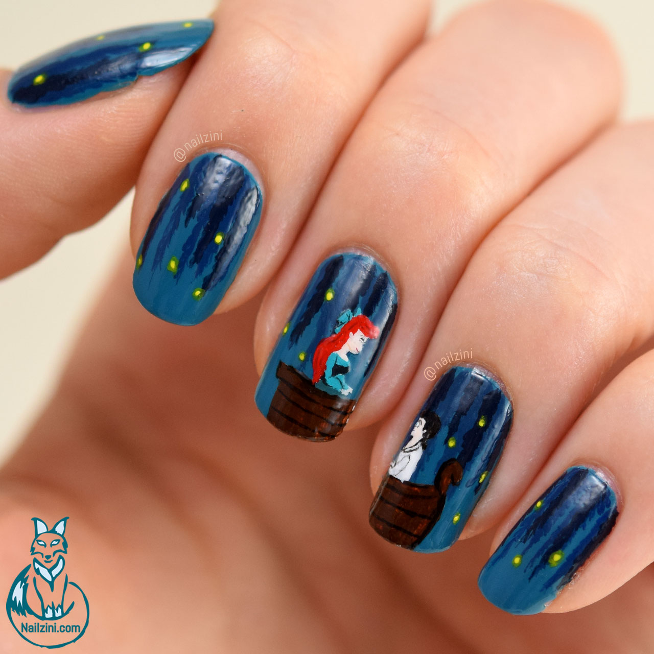 The Little Mermaid Nail Art Nailzini