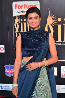 Ishita Vyas in Velvet Sleeveless Choli Designer Saree at IIFA Utsavam Awards 2017  Day 2  HD Exclusive 15.JPG