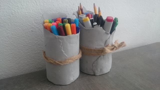 DIY pennenbakjes boetseerklei