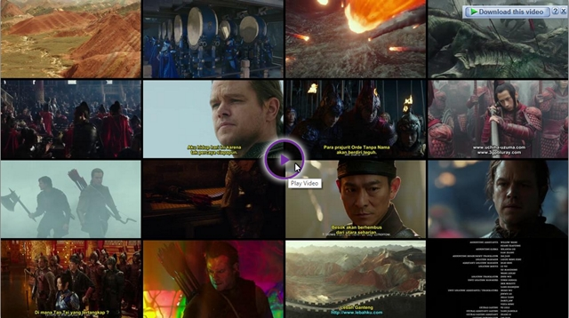 Screenshots Download Film Gratis The Great Wall (2016) BluRay 480p MP4 Subtitle Indonesia 3gp