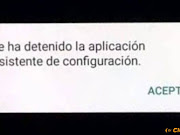 Se ha detenido la aplicacion asistente de configuracion.