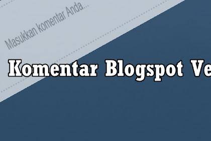 Mengubah tampilan komentar blogspot versi lama menjadi versi baru