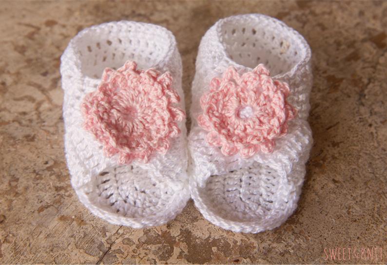 TEJER GANCHILLO CROCHET: Sandalias para bebé a crochet paso a paso.