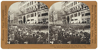 Stereoscopic View of 369th Infantry Regiment Parade