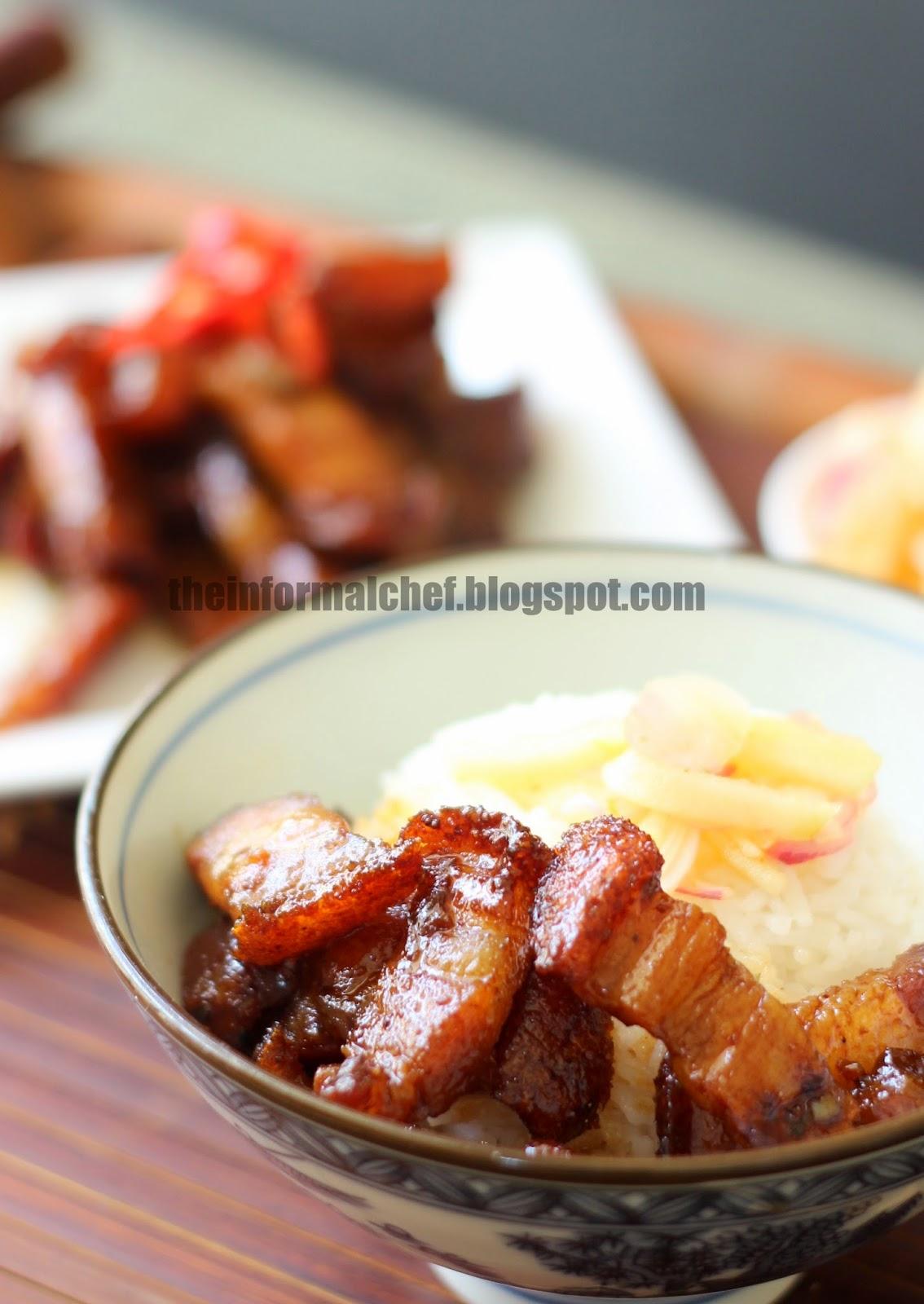 The Informal Chef: Stir-Fry Caramelised Roasted Pork Belly (Siew Yuk