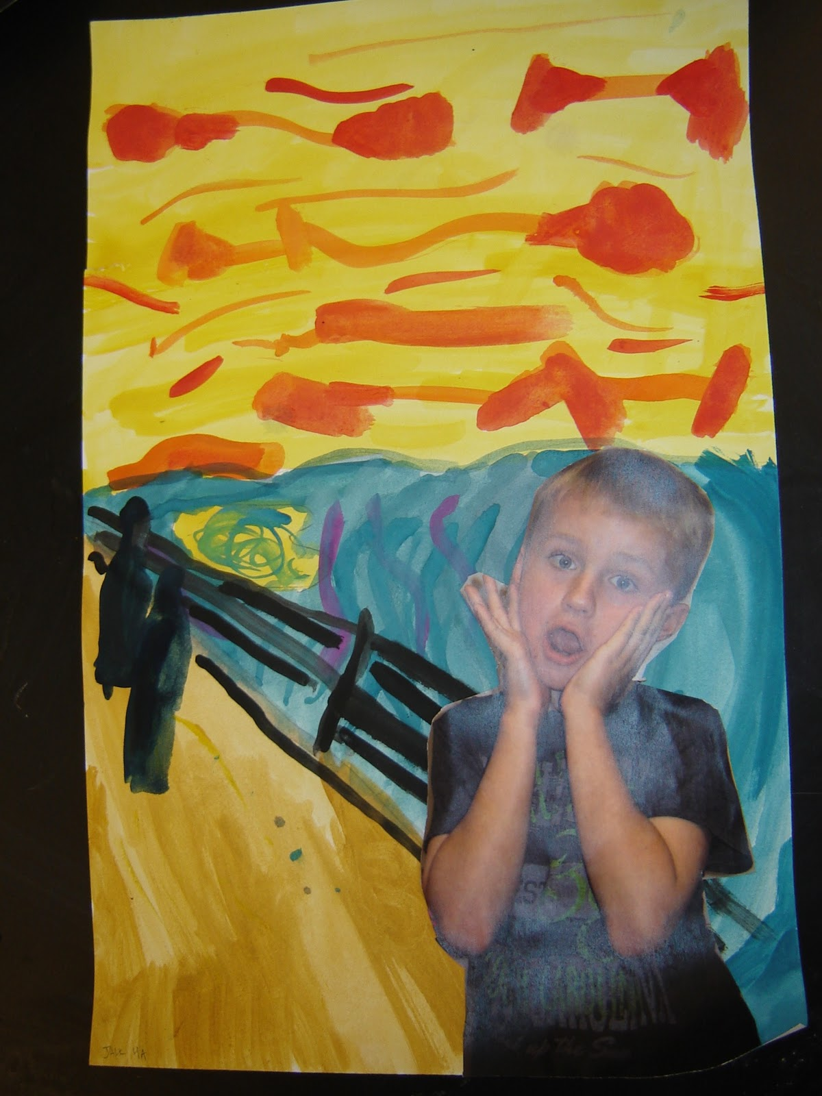 Jamestown Elementary Art Blog 4th Graders In The Scream