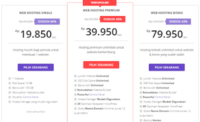 paket web hostinger