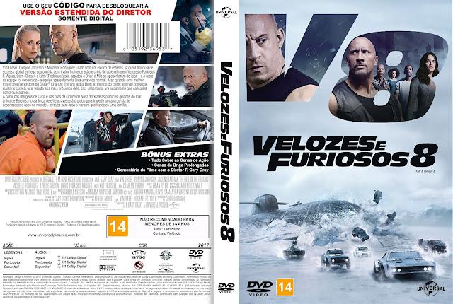 Capa DVD Velozes e Furiosos 8 [Custom]