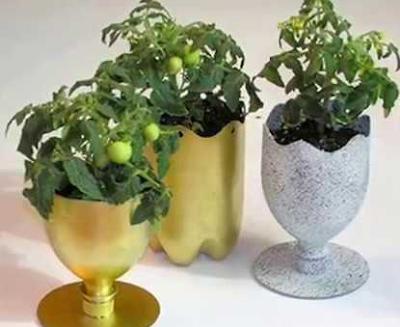 Cara Mudah Membuat Pot Bunga Cantik Dari Botol Plastik Bekas