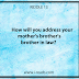 how will you address your mother's brother's brother in law?