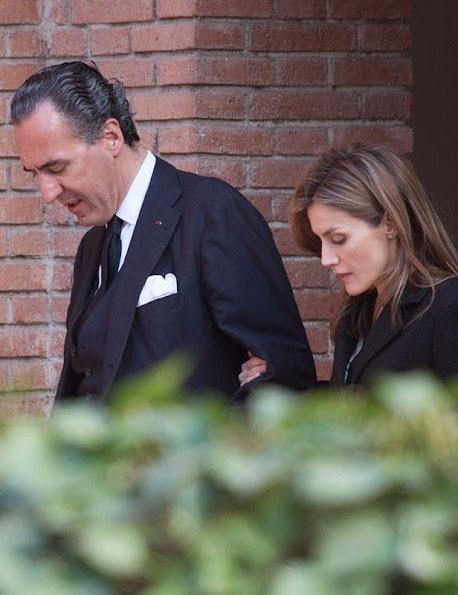 Spanish Royal Family express their condolences to Marichalar Family in Madrid. Princess Elena 's ex mother-in-law, Count of Ripalda Concepcion Saenz de Tejada