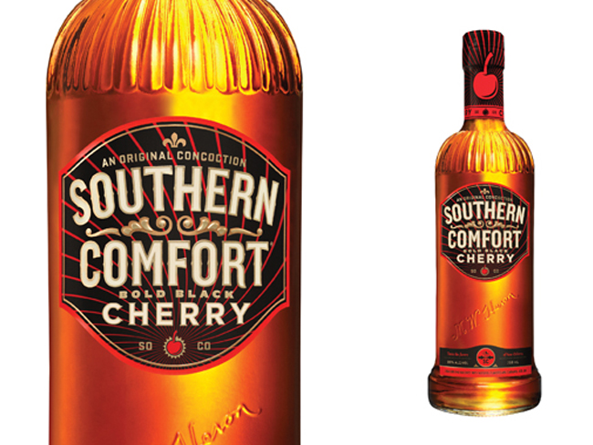 Southern Comfort Bold Black Cherry On Packaging Of The