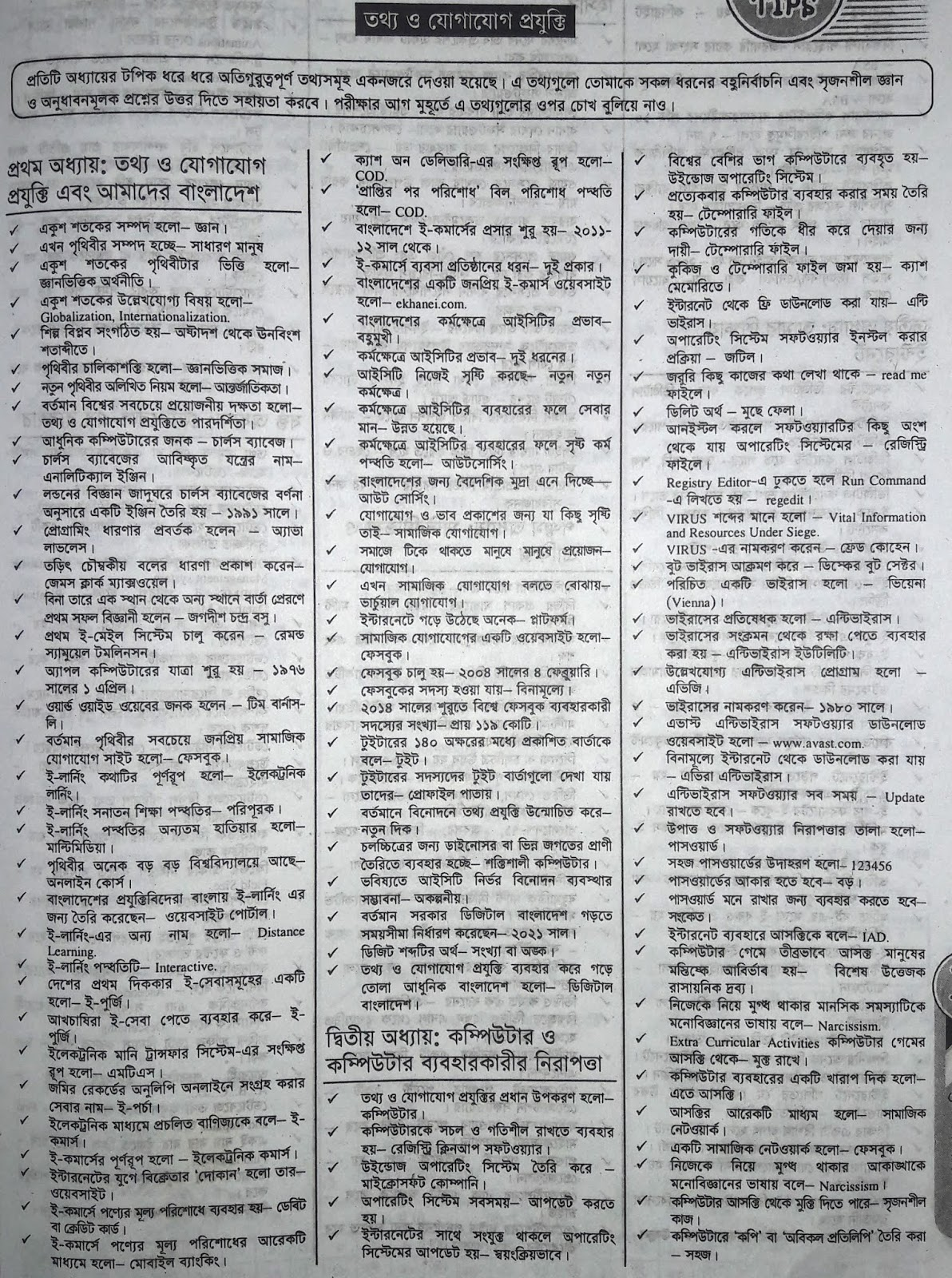 SSC ICT suggestion, question paper, model question, mcq question, question pattern, syllabus for dhaka board, all boards
