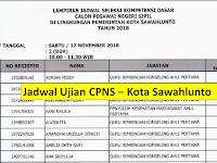 Jadwal dan Nama Peserta UJIAN CAT CPNS 2018 - Kota Sawahlunto, Download Disini !!!