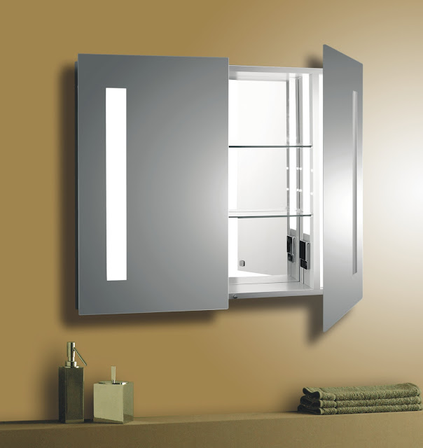 Bathroom mirror medicine cabinet A