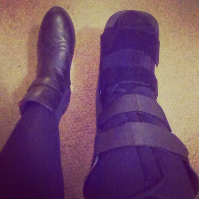 6pm - walking boot brace