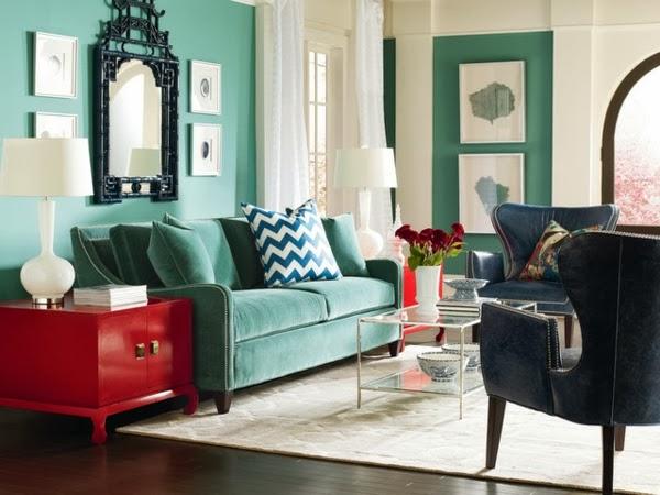 Salas turquesas salas con estilo for Sala de estar turquesa