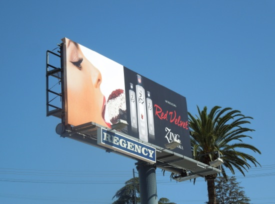 Zing Vodka Red Velvet billboard
