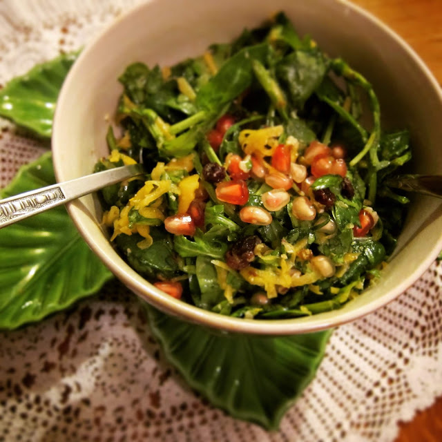 κολοκύθα σαλάτα, χειμωνιάτικη σαλάτα, φθινοπωρινή σαλάτα, γιορτινή σαλάτα, χριστουγεννιάτικη σαλάτα, παράξενο πιρούνι, paraxeno pirouni