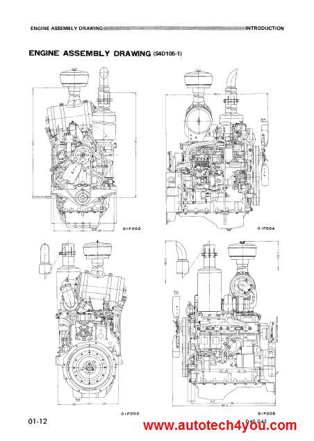 Komatsu D40-D45 Bulldozer Service Manual ~ Service & Spare